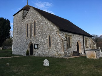 A photo of the church in Clapham